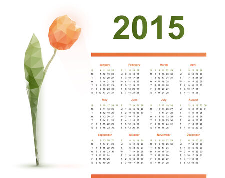 Calendar for 2015, editable vector illustration  Illustration