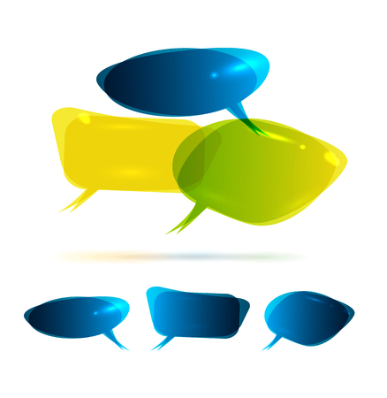talkative: Speech Bubbles Illustration
