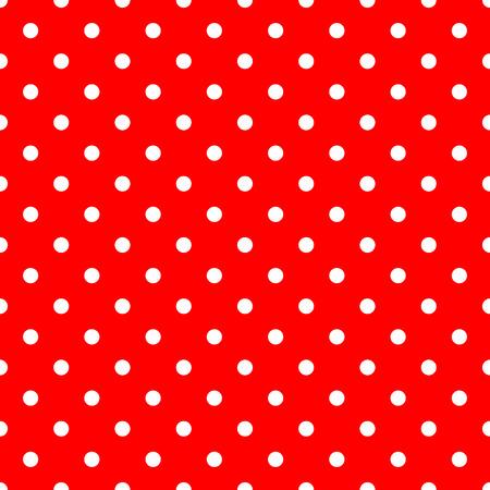 lunares rojos: Lunares blancos sobre fondo rojo Modelo inconsútil Vectores