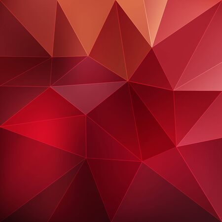 Red abstract geometric triangular background vector illustration Illustration