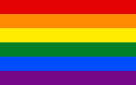 Rainbow gay pride flag vector illustration