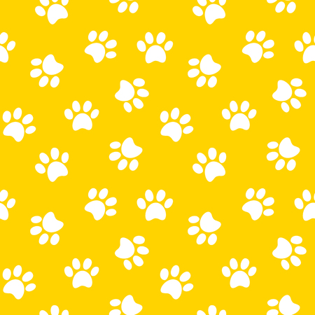 Animal footprint seamless pattern illustration Ilustração