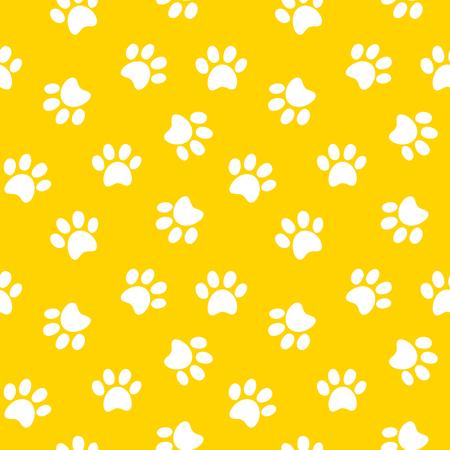 Animal footprint seamless pattern illustration Vettoriali