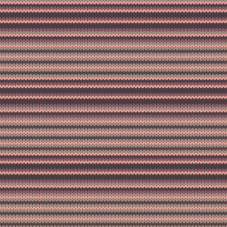 Striped knitted seamless pattern vector illustration. Abstract seamless background. Vettoriali