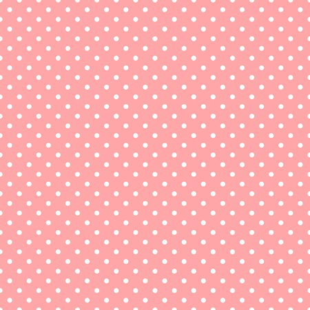 White polka dots on pink background seamless pattern