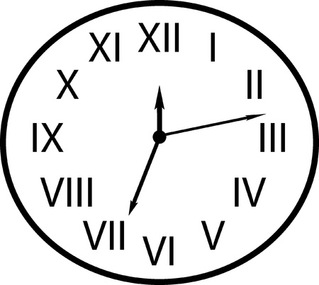 a black and white dial plate on the white background Vector