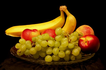 fruit still life in the black background Stock Photo - 10141966