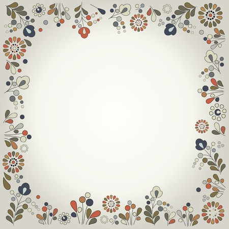 Retro style floral background. Vector.