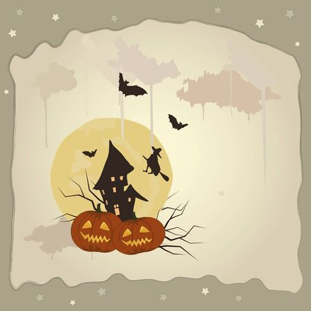 Contexte de l'Halloween. Vector illustration.