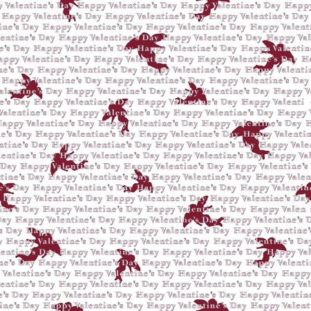 Valentines day background. Seamless pattern