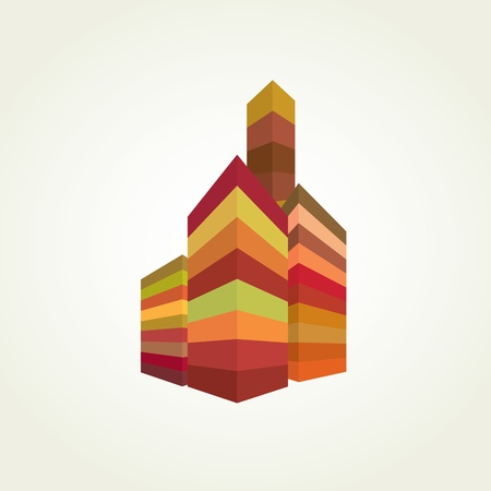Abstract urban background. Colorful cityscapes.  Vector