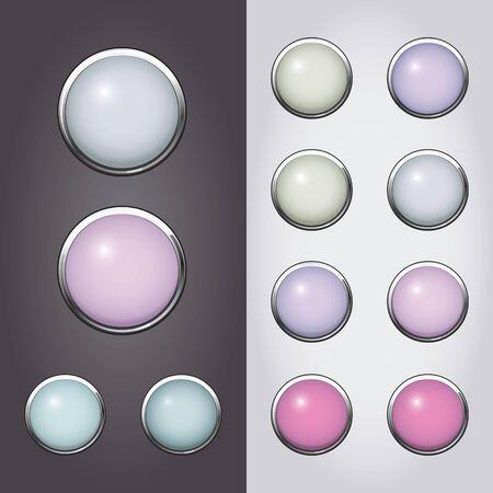 Glass button set.  Illustration