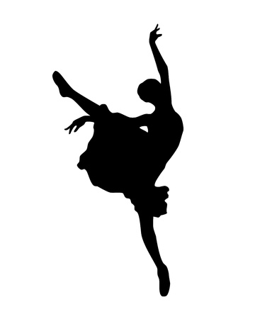 ballerina silhouette Isolated on white background