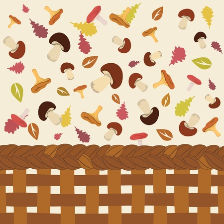 Cute colorful autumn pattern illustration