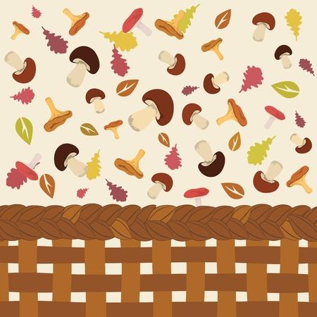 Cute colorful autumn pattern illustration