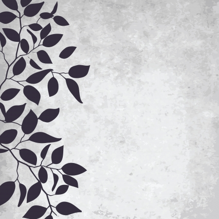 abstract grunge background with elegance leaf pattern