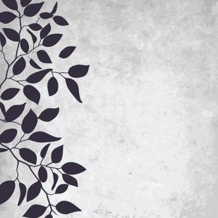 grunge leaf: abstract grunge background with elegance leaf pattern