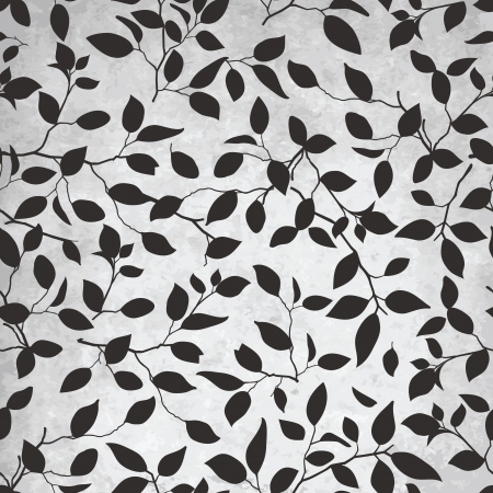 Elegancia abstracta sin fisuras con la ilustración hoja patrón Ilustración de vector