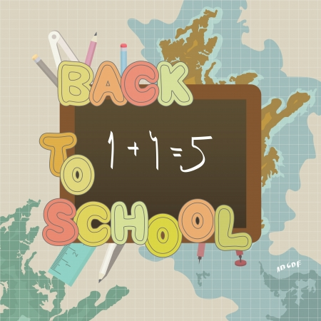 Back to school - colorful  Vector
