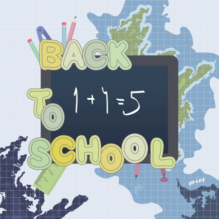 Back to school Retro design Vector