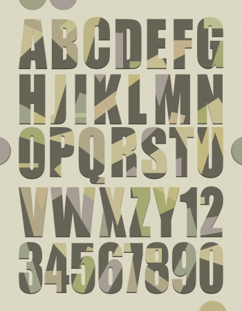 Retro style alphabet letters and numbers