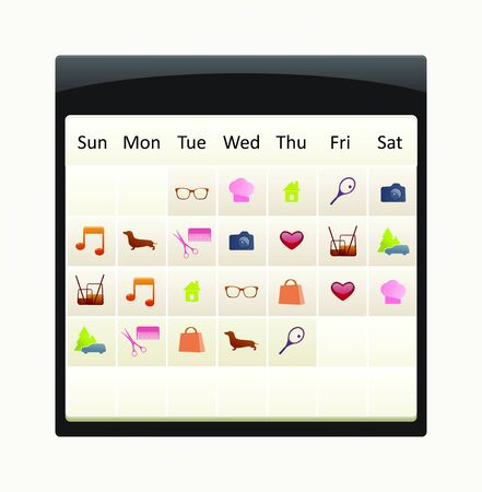 calendar with to-do icon set Stock Vector - 15060682