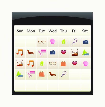 calendar with to-do icon set Stock Vector - 15060682