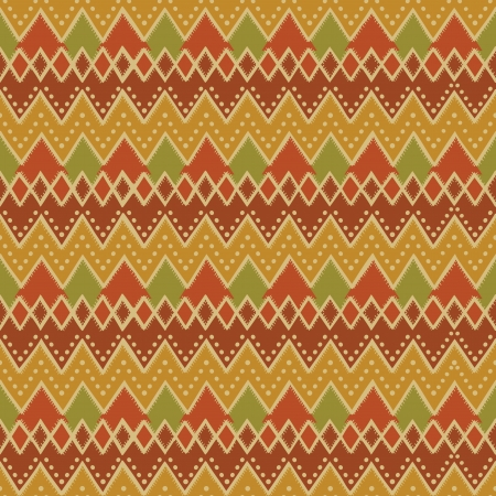 Colorful christmas pattern in retro style.  Illustration