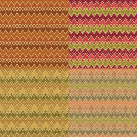 Abstract decorative pattern set.