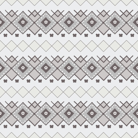 Decorative seamless pattern in nordic style illustration