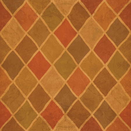 Grunge textured Argyle pattern. Abstract background Vector