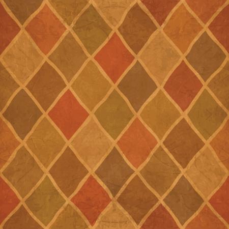 Grunge textured Argyle pattern. Abstract background