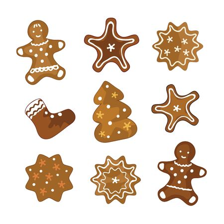 Vector set of Christmas cookies Vector
