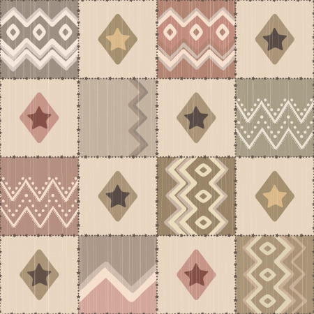Geometric ornamental pattern. Vector illustration