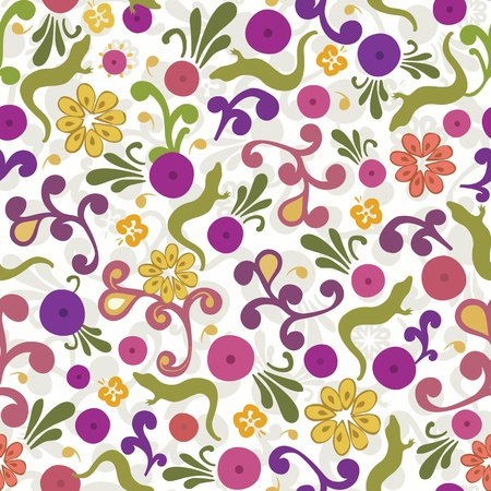 Cute floral ornamental pattern. Vector illustration Stock Vector - 17705834