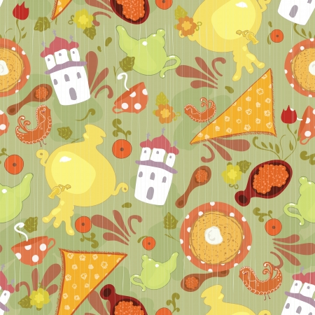 Funny pattern for kids - vector illustration Illustration