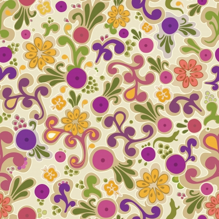 Colorful motif floral. Fond fleuri.