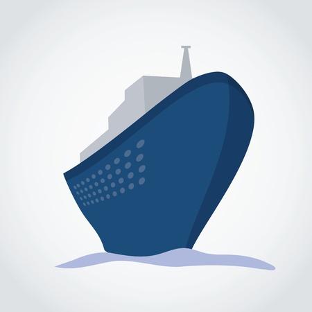 Cruise Ship - illustration Vector
