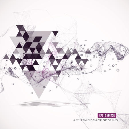white abstract: Abstract geometric background.  illustration