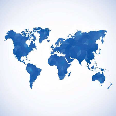 wold: Abstract blue textured wold map Illustration