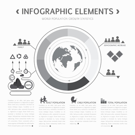 Demographic info graphic elements. Vector illustration