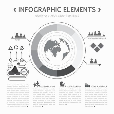 Demographic info graphic elements. Vector illustration