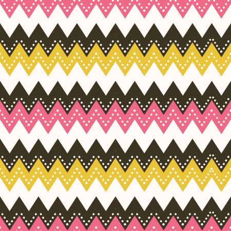 Vector seamless pattern in zig zag