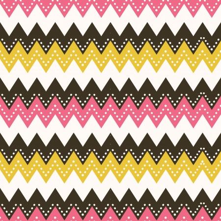 Vector seamless pattern in zig zag