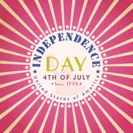 Independence Day vintage background.  illustration Vector
