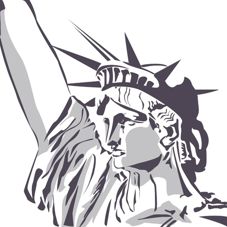 immigration: Statue of liberty