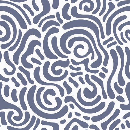 Abstract seamless pattern with swirly ornaments