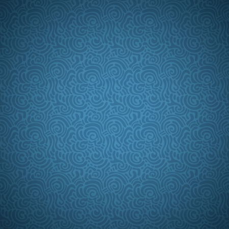 Seamless abstract hand-drawn ornamental pattern. Vector illustration