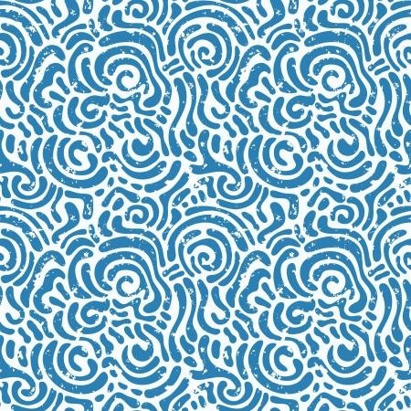 Seamless abstract hand-drawn pattern with grunge texture. Vector illustration Vector