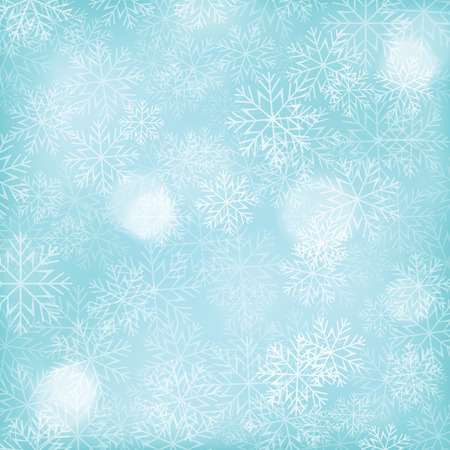 snowflake background: Abstract Christmas background with falling snowflakes. Vector illustration